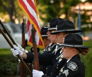 TPD Honor Guard presenting the flags