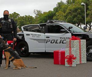 2020 K-9 at Santa Cop