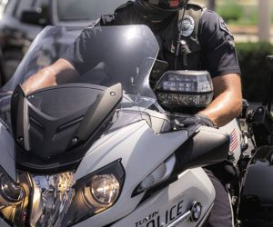 2020 TPD Motor Officer on Motorcycle