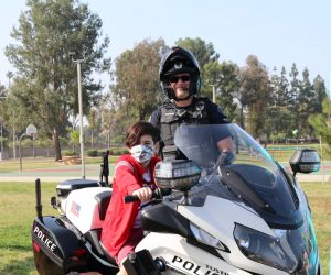 2021 TPD Traffic Unit and Motor Officer at Easter Egg Hunt with Parks & Rec