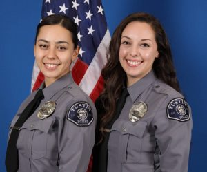 Community Relations - Community Relations Officers Ismailova (left) and Jones (right)