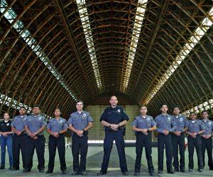 TPD Explorers inside Tustin Hangar