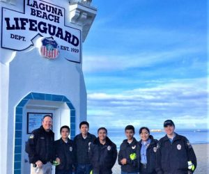 TPD Explorers on location at event near beach