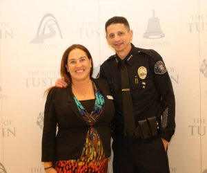 TPF President Wendi Forrest with Chief Greenberg at his swearing-in