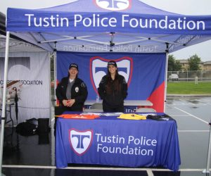 Tustin Police Foundation booth at Run With a Cop event